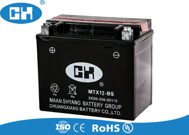 High Output Motorcycle Battery Semi Free Maintenance  , 12v 12Ah Dry Cell Motorcycle Battery