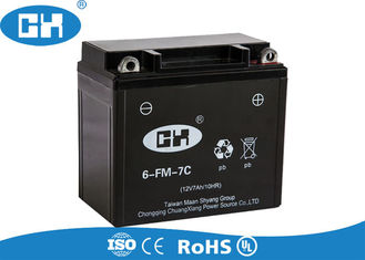 Sealed Rechargeable Motorcycle Battery 12v 7Ah 2.18kg Overcharging Protection